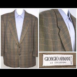 Giorgio Armani Plaid Blazer Sport Coat Jacket 41R